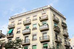 Typical residential architecture in Barcelona Royalty Free Stock Photo