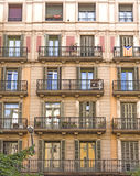 Typical residential building in Barcelona Stock Images