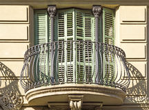 Typical residential building in Barcelona Stock Image