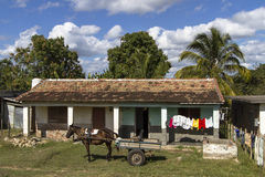 Typical residential home on Cuba Royalty Free Stock Photo