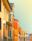 typical residential street of the provincial town Royalty Free Stock Photos