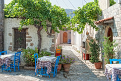Tavern. Typical restaurant on Krete in Greece Stock Image