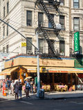 Typical restaurant at Little Italy in New York City Royalty Free Stock Image