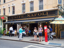 Typical restaurant at Little Italy in New York City Royalty Free Stock Photography