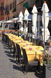 Typical restaurant in Rome Stock Photography
