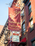 Typical restaurants at little Italy in New York City Royalty Free Stock Photo