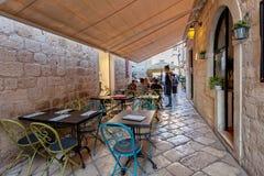 Typical restaurants in Old Town, Dubrovnik, Dalmatia, Croatia Stock Images