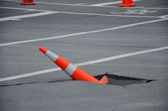 Typical road damage Royalty Free Stock Photos