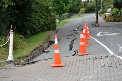 Typical road damage stock image