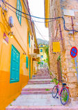 Typical road of Nafplion Stock Photo