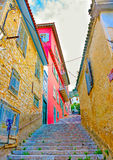 Typical road of Nafplion Royalty Free Stock Photos