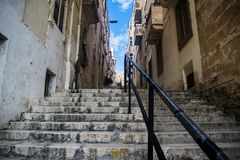 A Typical Road in Senglea Royalty Free Stock Image