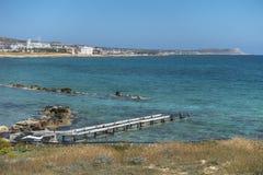 Coast of Cyprus island stock photography