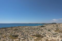 Coast of Cyprus island royalty free stock image