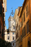 Typical Rome Street. A typical street, located near the Casa Delle Letterature, in Rome Royalty Free Stock Photos