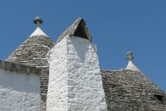 Typical roof in Alberobello Stock Image