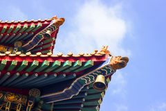 Typical roof edge in Temple in Hongkong royalty free stock image