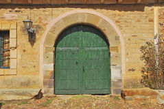 Typical rounded door Stock Photography