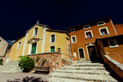 Typical Rousillon buildings Stock Photography