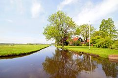Typical rural dutch landscape Royalty Free Stock Photography