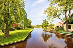 Typical rural dutch landscape Royalty Free Stock Photos