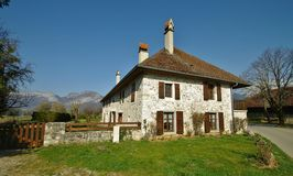 Typical rural house. In haute savoie in french alps Stock Photo