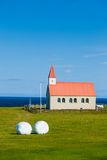 Typical rural icelandic church Royalty Free Stock Photography