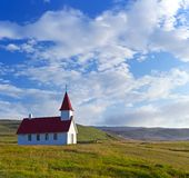 Typical rural icelandic church Royalty Free Stock Images
