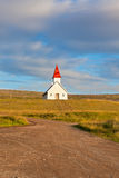 Typical Rural Icelandic Church under a blue summer sky Royalty Free Stock Photos