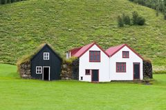 Typical Rural Icelandic houses Stock Images
