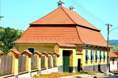 Typical rural landsacpe in the village Veseud, Zied, Transylvania. Veseud, Zied is a village in the commune Chirpăr from Sibiu County, Transylvania, Romania Royalty Free Stock Images