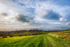 Typical rural landscape in England Royalty Free Stock Photos