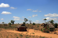 Typical Rural Madagascar view Stock Images