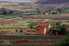 Typical rural Madagascar view Stock Photo