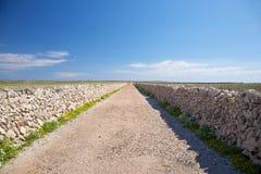 Typical rural road at Menorca Stock Photos