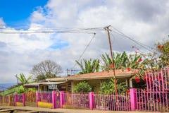 House sky blue pink house Central America Stock Photos