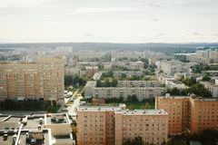 Typical russian city view Royalty Free Stock Photography