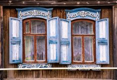 Typical russian house Stock Images