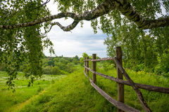 Typical Russian landscape. Typical Russian country landscape, near Polenovo Stock Photo
