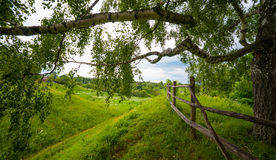 Typical Russian landscape. Typical Russian country landscape, near Polenovo Stock Photography
