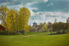 Russian landscape with church Stock Image