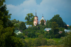 Typical Russian village landscape Stock Image