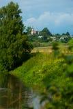 Typical Russian village landscape Stock Photo