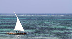 Typical Sailing Boat In Kenya Royalty Free Stock Image