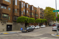 Typical San Francisco hilly neighborhood, California, USA Royalty Free Stock Images