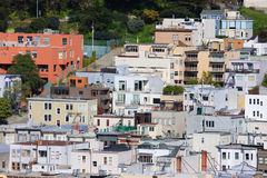 Typical San Francisco residential architecture. Houses on Telegraph Hill, San Francisco Royalty Free Stock Photo