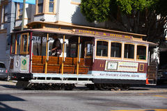 Typical San Francisco train  traveling down the Embarcadero on a Stock Images