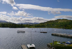 Typical scene at Ambleside, Lake Windermere Royalty Free Stock Images