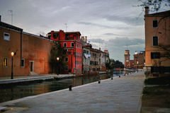 Typical Scene of Venice City in Italy. Stock Photos