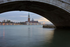 Typical Scene of Venice City in Italy. Royalty Free Stock Images